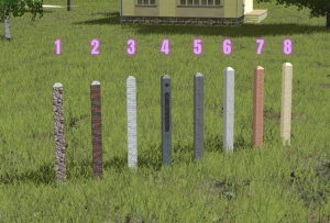 Kerítéstalapzatok és -oszlopok típusai